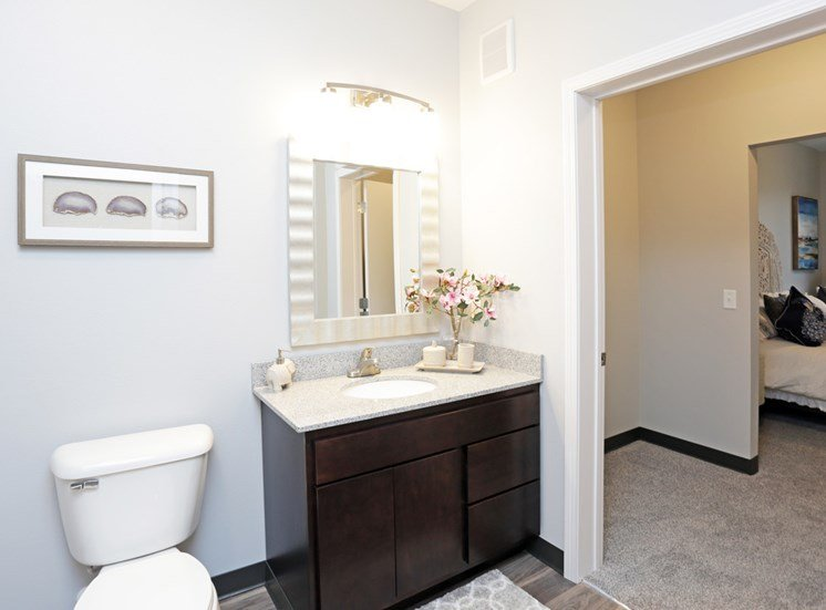 Bathroom in Soll Apartments Des Moines IA