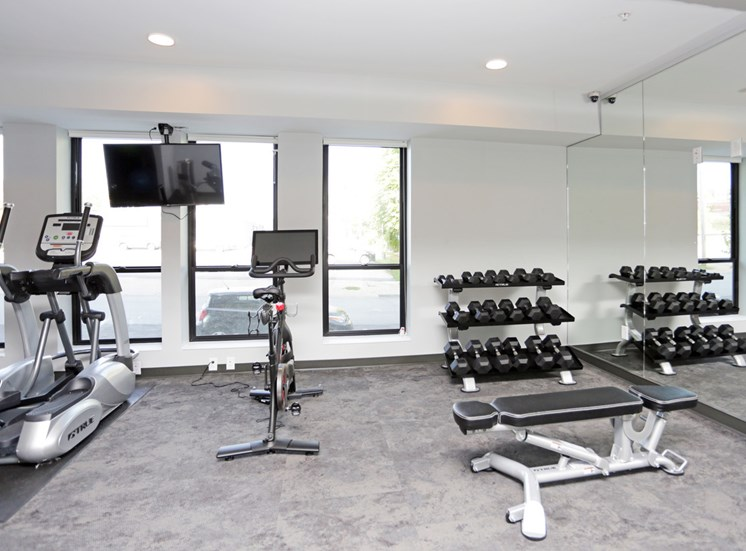 Fitness Center in Soll Apartments Des Moines IA
