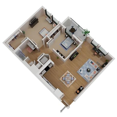 CA_SantaRosa_Annadel_PlanB1a_Floor_Plan_2Bedroom_1Bath