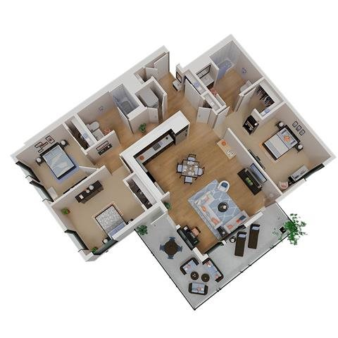 CA_SantaRosa_Annadel_PlanC1_FloorPlan_3Bedroom_2Bathroom