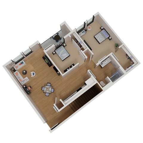 CA_SantaRosa_Annadel_Plan_B1b_Floor_Plan_2Bedroom_1Bathroom
