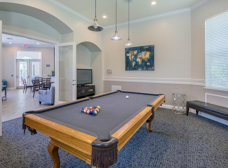Versant Place Apartments billiards room