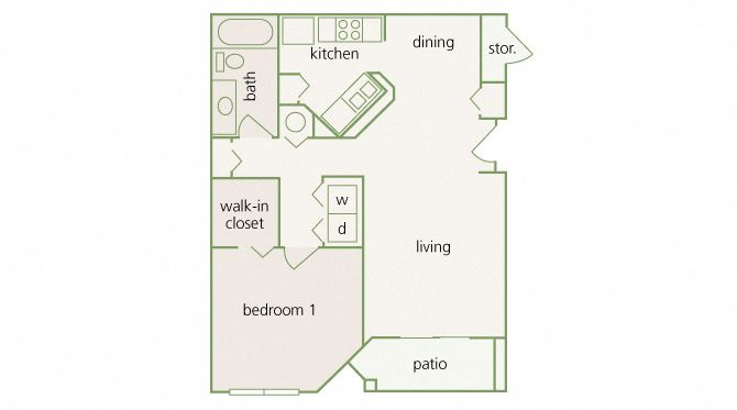 Park Del Mar - A2 - Monet - 1 bedroom - 1 bathroom