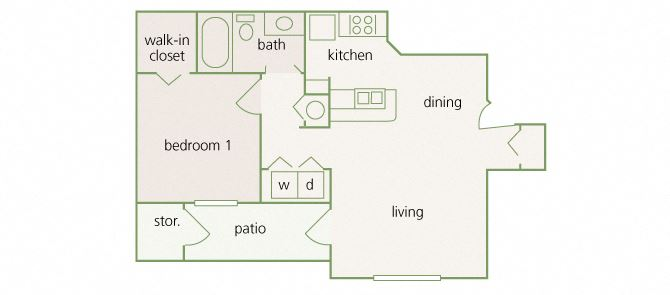 Park Del Mar - A1 - Raphael - 1 bedroom - 1 bathroom