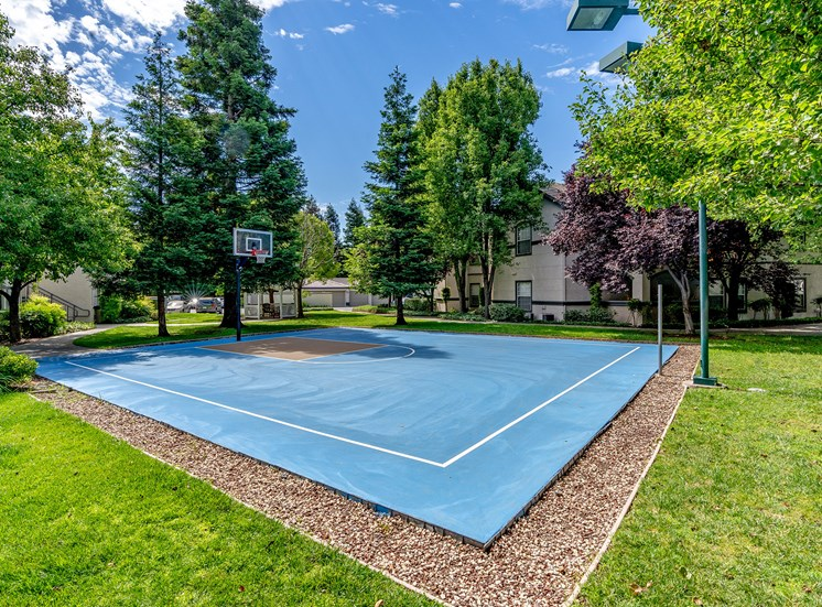 The Commons apartments basketball court