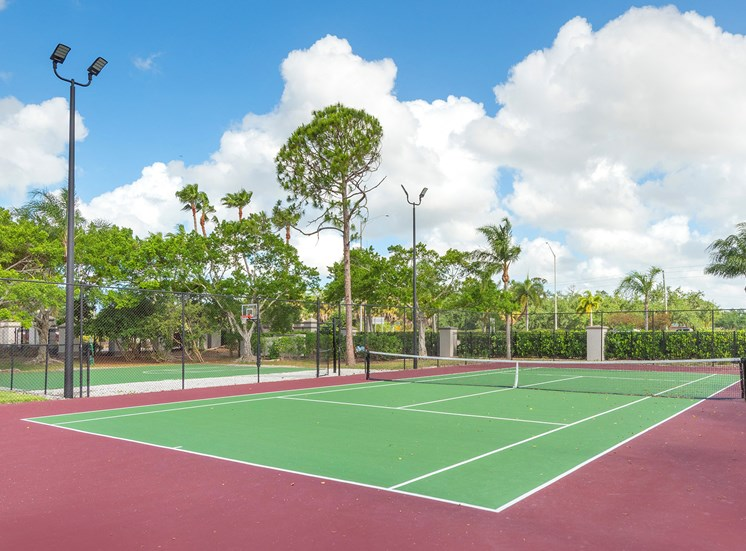 La Costa Apartments lighted tennis court