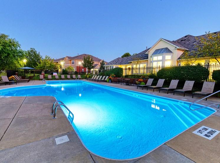 The Gardens at Polaris swimming pool