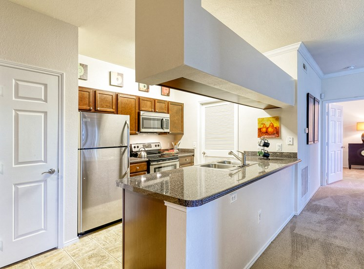 The Gardens at Polaris premium kitchens including stainless steel appliances available