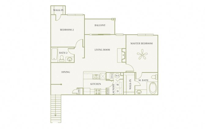 The Gardens at Polaris - Begonia (with garage) - 2 bedroom - 2 bathroom
