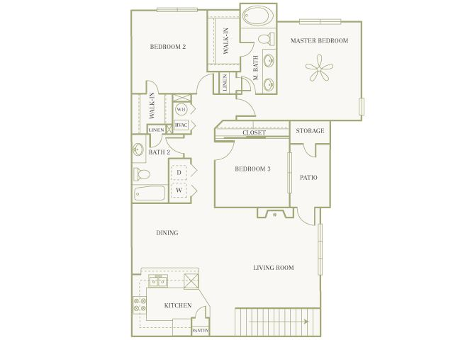 The Gardens at Polaris - Carnation (with garage) - 3 bedroom - 2 bathroom