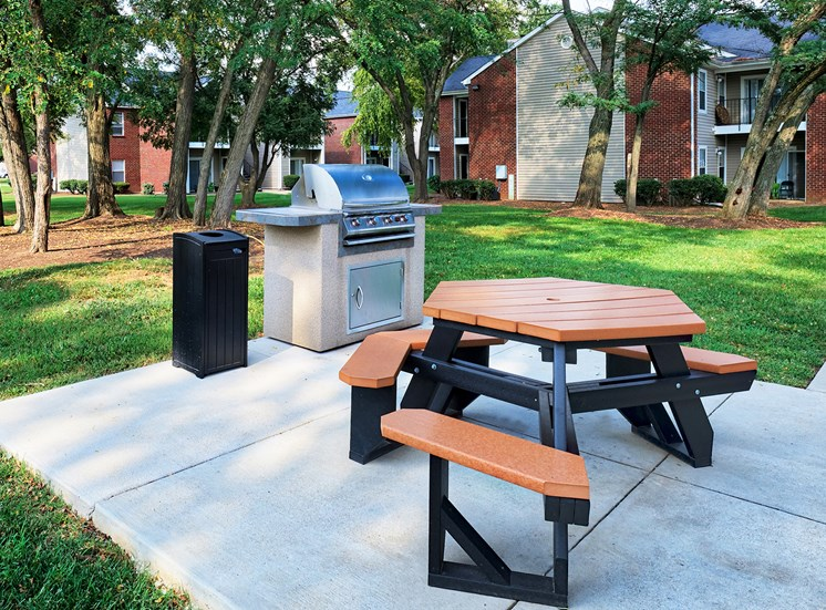 East Chase Apartments - Picnic area with grilling station