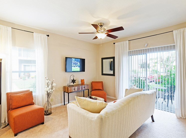 East Chase Apartments - Staged interior - living room