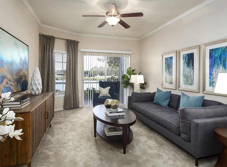 Addison Park at Cross Creek Apartments - Staged living room