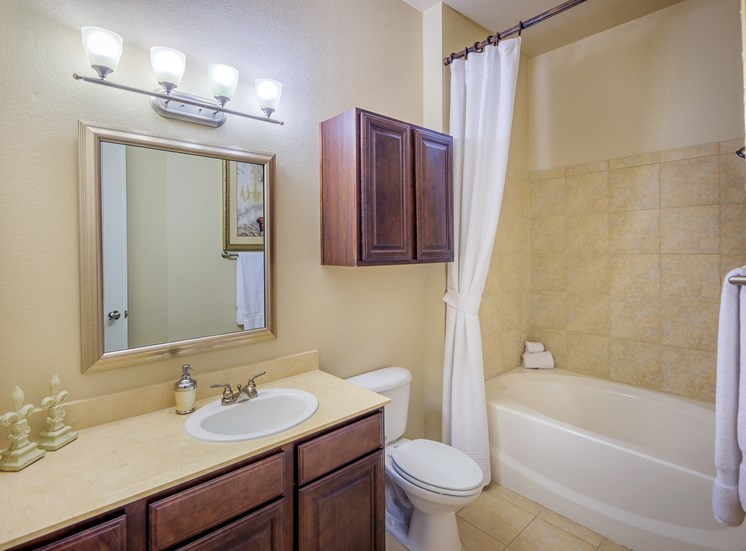 Monterra Las Colinas Apartments marble bathroom vanities