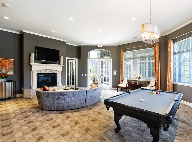 Corbin Greens Apartments - Resident lounge with billiards
