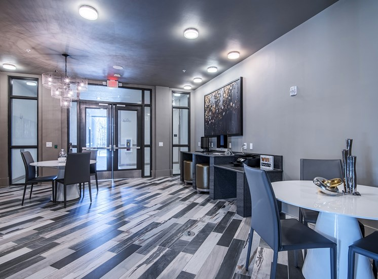 Centre Pointe Apartments - resident clubhouse interior