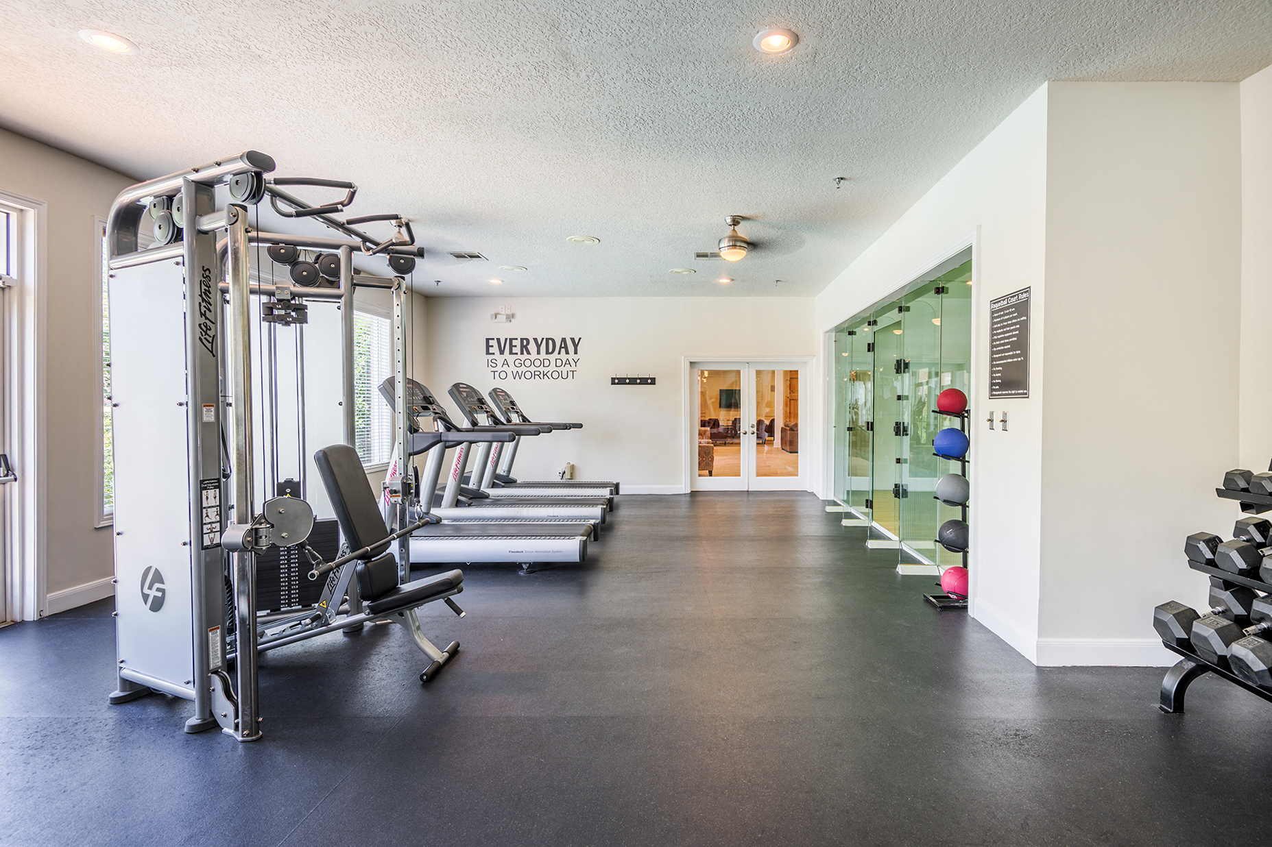 Fitness Center With Racquetball Court