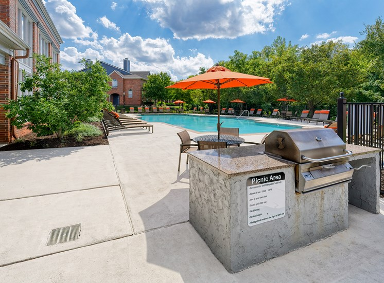 Weston Point Apartments - Picnic areas poolside and throughout the community