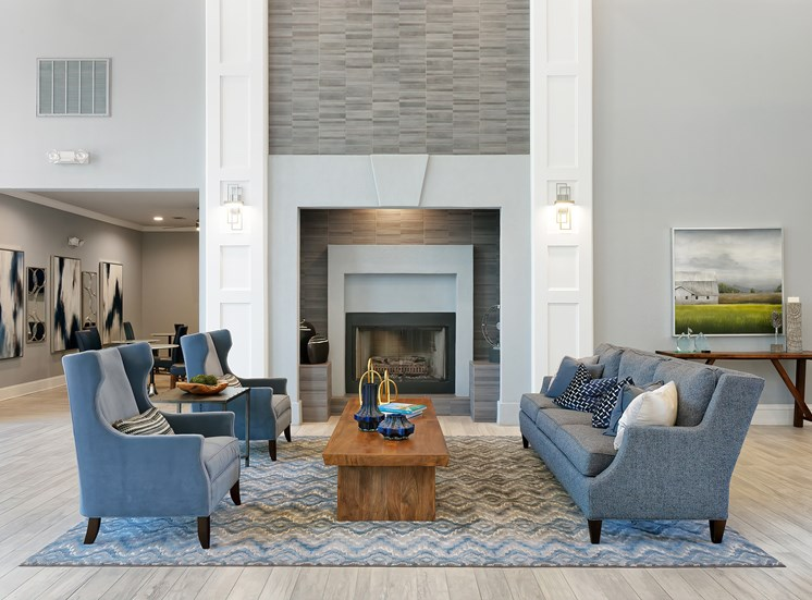 Weston Point Apartments - Clubhouse with fireside lounge