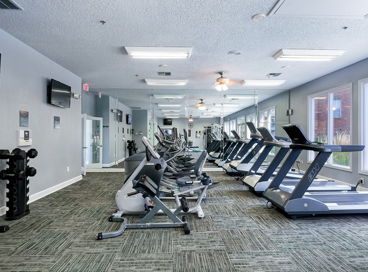 Weston Point Apartments - Fully-equipped fitness center with 24-hour access