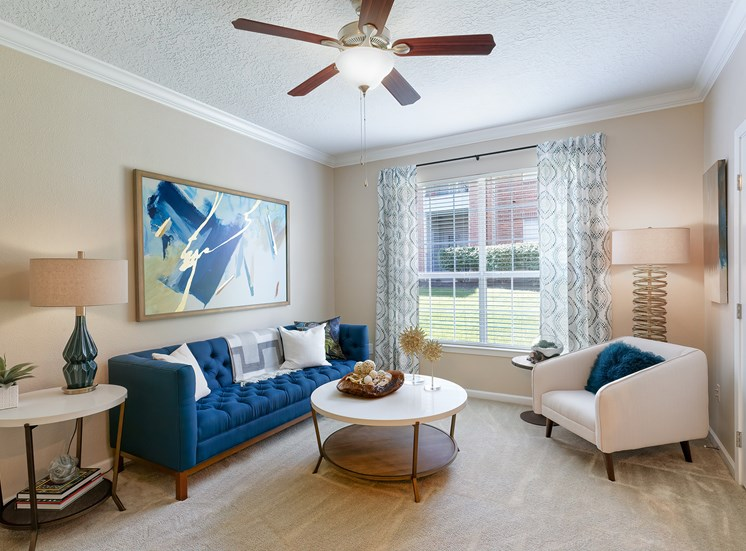Weston Point Apartments - Ceiling fan in living room