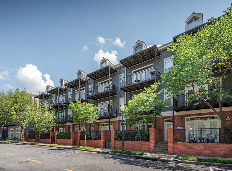 Oversized wrap-around patios and balconies in select units