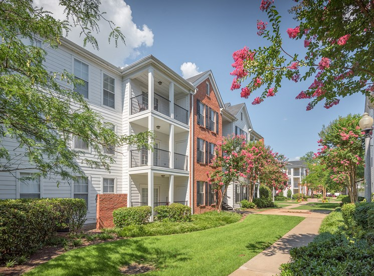 Island Park and Harbor Town Square Apartments - Exterior pathways of community