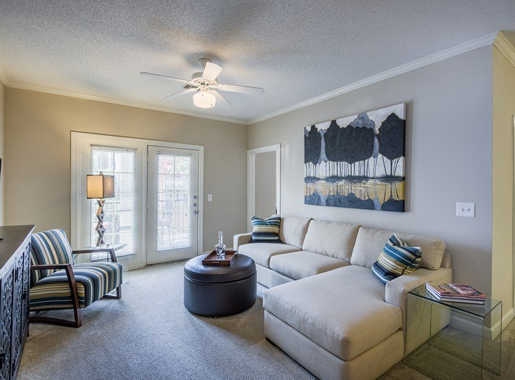Island Park and Harbor Town Square Apartments - Living room interior