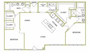 B9 floor plan for Lofts at Lakeview in Durham, NC