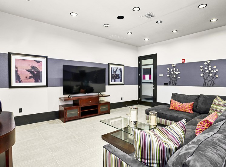 Acadia at Cornerstar Apartments - Resident lounge with multiple flat screen TVs