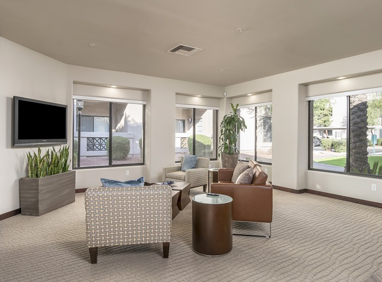 The Paragon at Kierland Apartments clubhouse