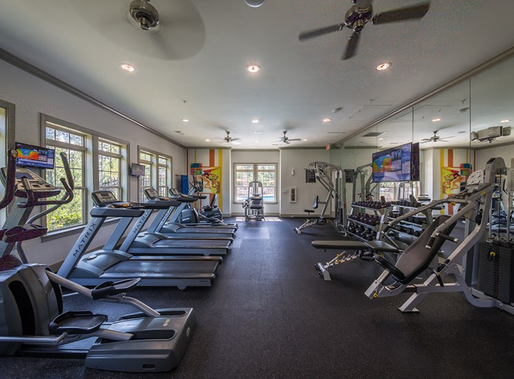 The Oaks at Johns Creek fully-equipped fitness center