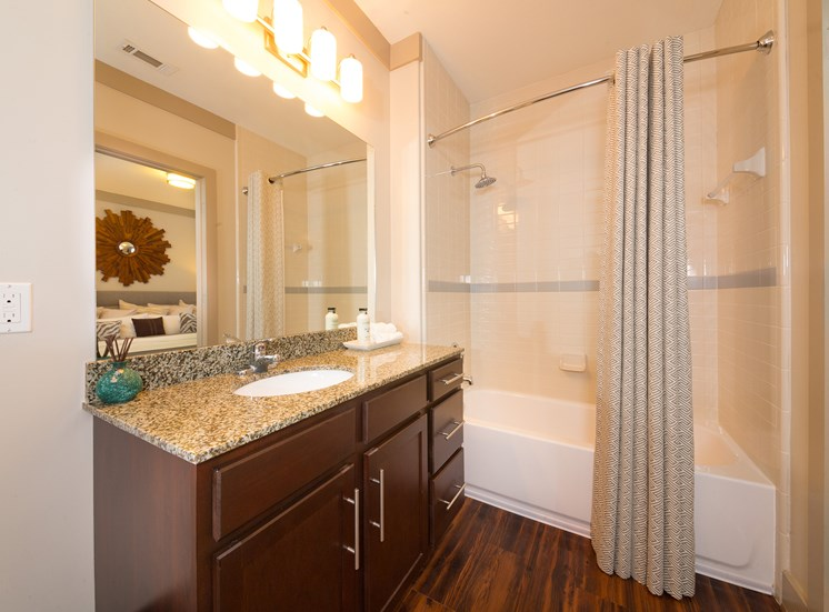 The Oaks at Johns Creek - Granite countertops in bathrooms