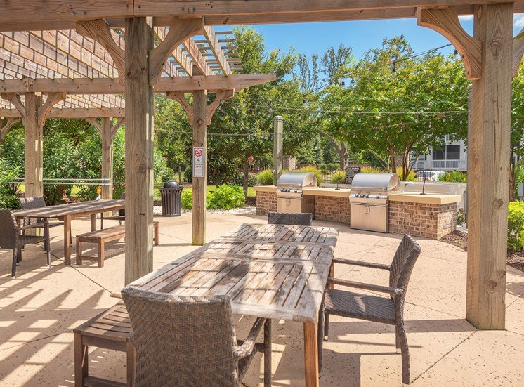 Windward Long Point Apartments picnic area with grilling stations