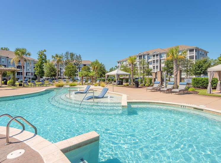 Windward Long Point Apartments resort-style saltwater pool