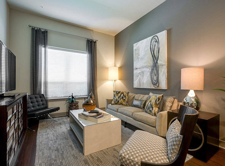 Cityplace Heights - Staged living room