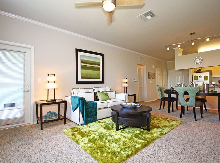 Interior living room at Hills of Valencia apartments