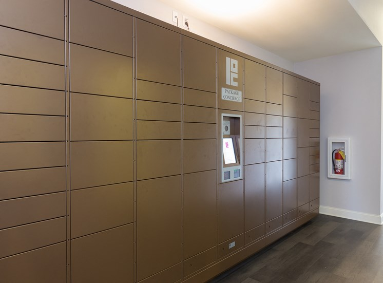 Courtney Station Apartments electronic parcel locker system