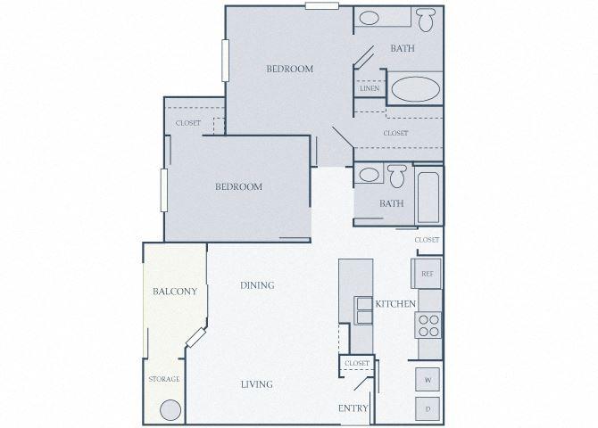 Courtney Station 2D floor plans B1 2 bedroom