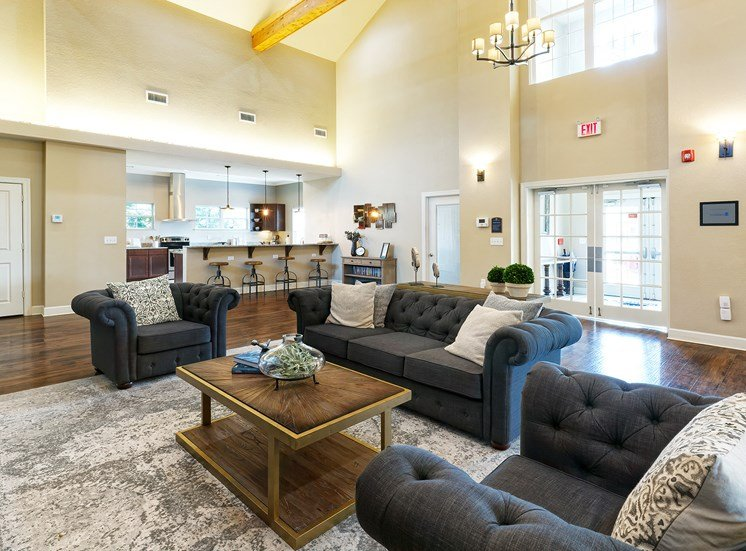 Glenbrook Apartments clubhouse social area