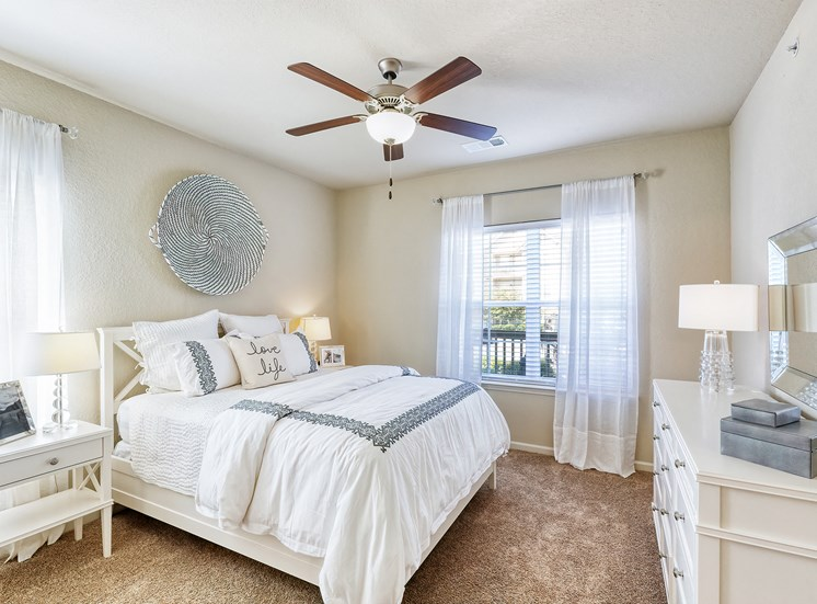 Glenbrook Apartments ceiling fan with lights in all bedrooms and living room