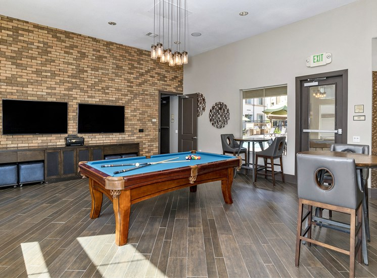 First and Main Apartments billiards table