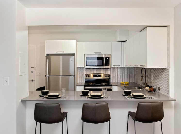 KC Modern - Stainless steel appliances in select units