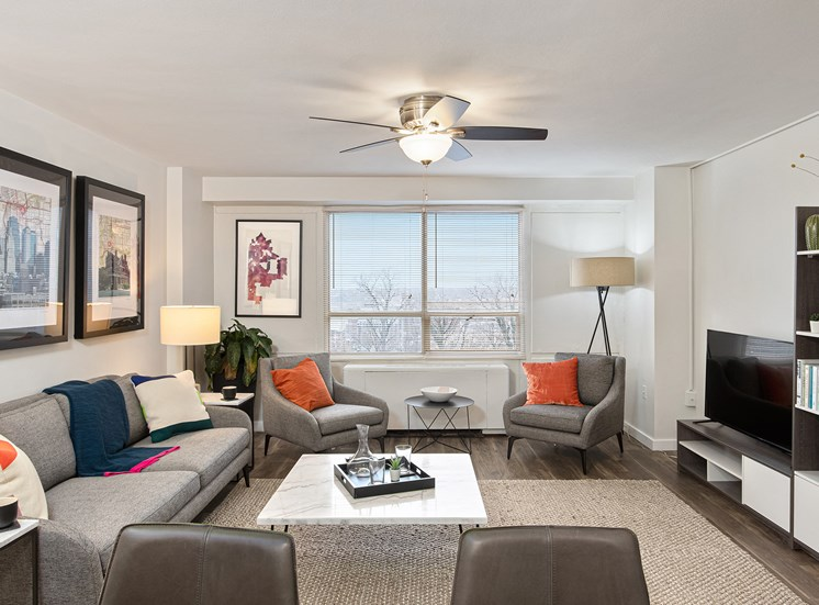 KC Modern - Upgraded units with wood-style flooring