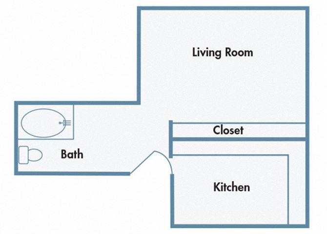 910 Penn Apartments - A1 - Studio apartment with 1 bath