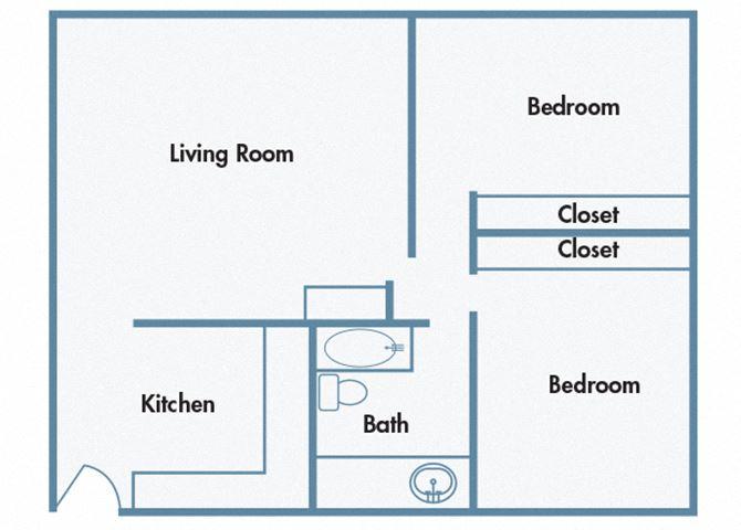 910 Penn Apartments - B1 - 2 bedroom and 1 bath
