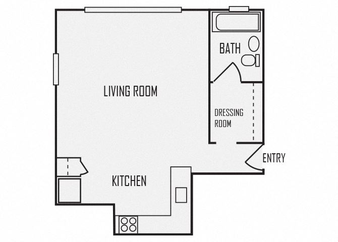 A2 floor plan for The KC High Line Apartments in Kansas City, MO