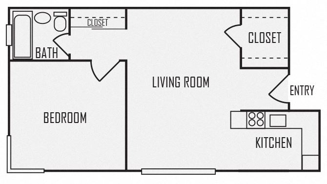 A5 floor plan for The KC High Line Apartments in Kansas City, MO