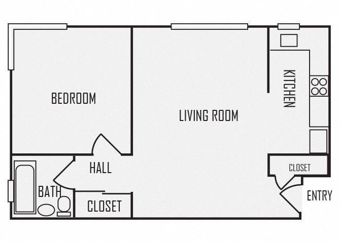 A6 floor plan for The KC High Line Apartments in Kansas City, MO