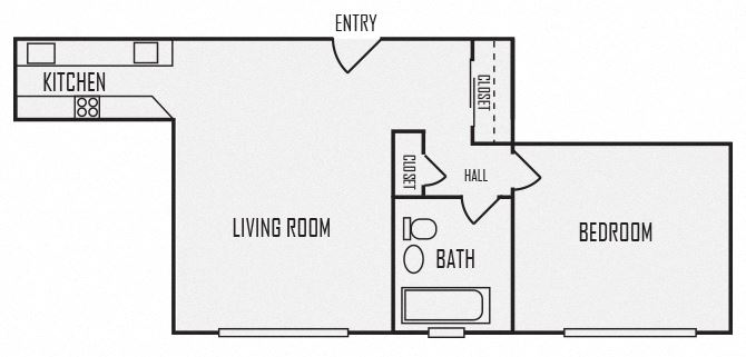 A8 floor plan for The KC High Line Apartments in Kansas City, MO